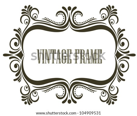 Vintage royal  frame. Jpeg version also available in gallery - stock vector