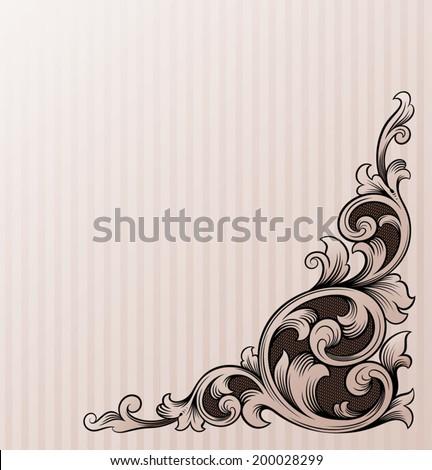 Vintage scroll design vector illustration  - stock vector