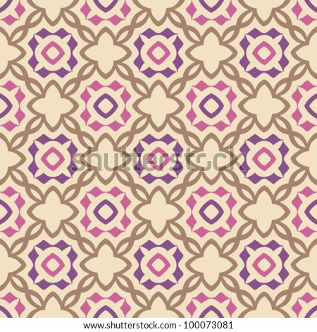 Vintage seamless abstract ornate pattern background vector illustration - stock vector