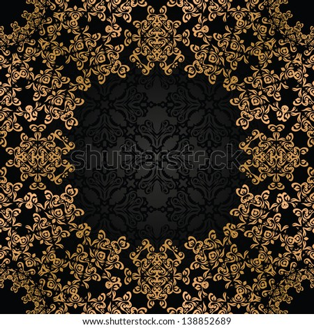 Vintage seamless background with an elegant lace frame. Retro design