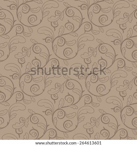 Vintage Seamless Floral Pattern With Clipping Mask - stock vector