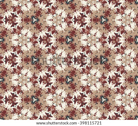 Vintage seamless pattern composed of color abstract elements located on white background. Useful as design element for texture, pattern and artistic compositions.Vector illustration. - stock vector