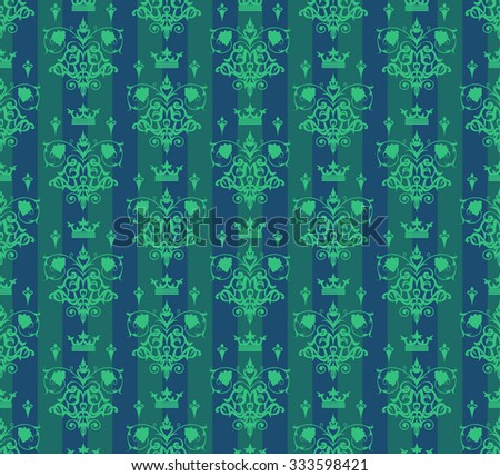 vintage, seamless pattern, damask, decorative, wallpaper vintage, background, green color