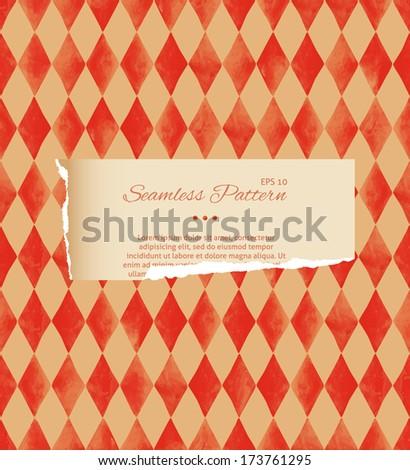 Vintage seamless pattern. Diamonds  - stock vector