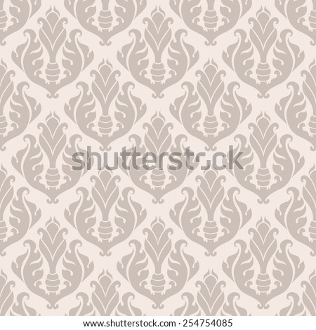 Vintage seamless pattern, endless floral ornament in classic style. Original author's design, hand-drawn. EPS-8.  - stock vector