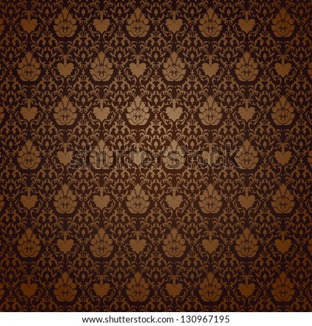 Vintage seamless pattern. EPS-8, endless floral ornament. - stock vector