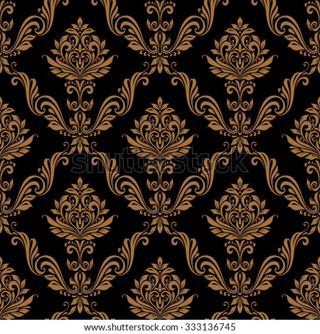 Vintage seamless pattern floral background luxury style - stock vector