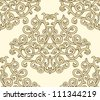vintage seamless pattern on light background - stock vector