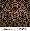 Vintage seamless pattern, vector - stock vector