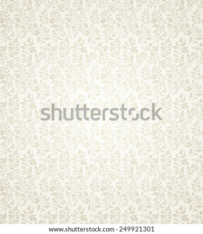 Vintage seamless pattern with lot of flourish elements - stock vector