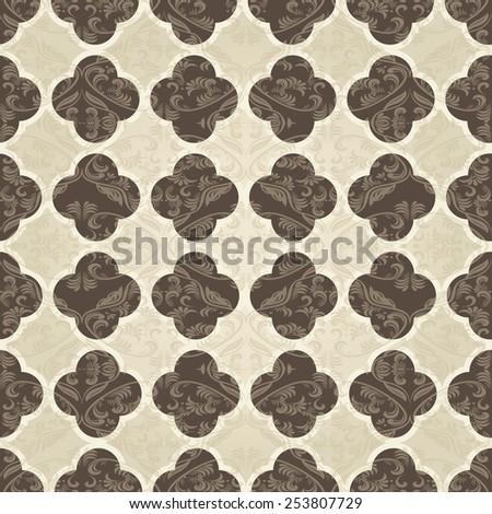vintage seamless victorian pattern - stock vector