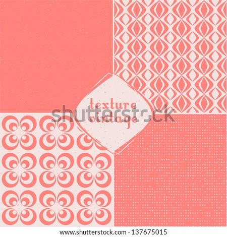 vintage set of vector seamless textures - stock vector