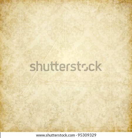 vintage shabby background with classy patterns - stock vector