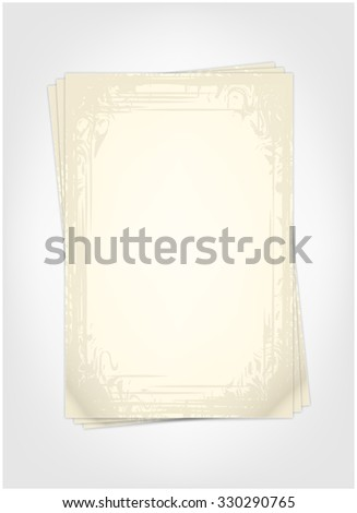 Vintage sheets to record - stock vector
