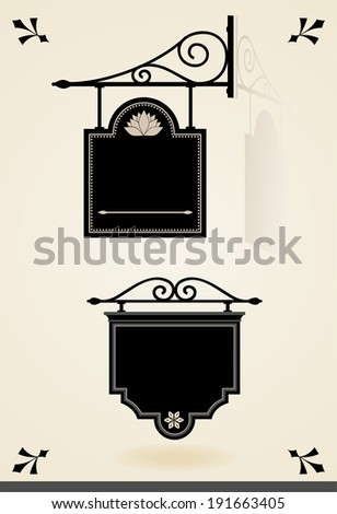 Vintage signboards - stock vector