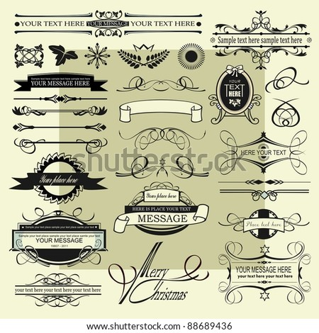 vintage signs - stock vector