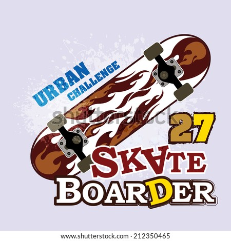 vintage Skateboard backgrounds ( T-Shirt Print )  - stock vector