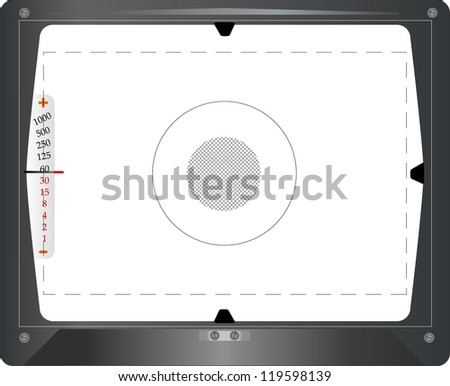 Vintage SLR viewfinder, with free space for your pics, vector - stock vector