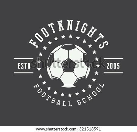 Vintage soccer or football logo, emblem, badge. Vector illustration - stock vector