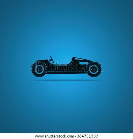 Vintage sport racing car. Sport Car Icon. - stock vector