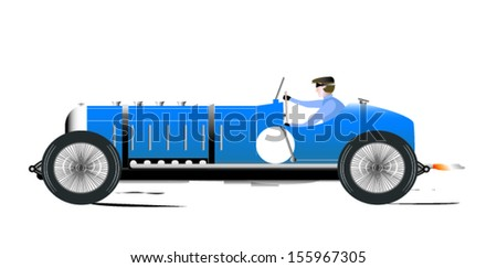 Vintage Sports Racing Car 1 - stock vector