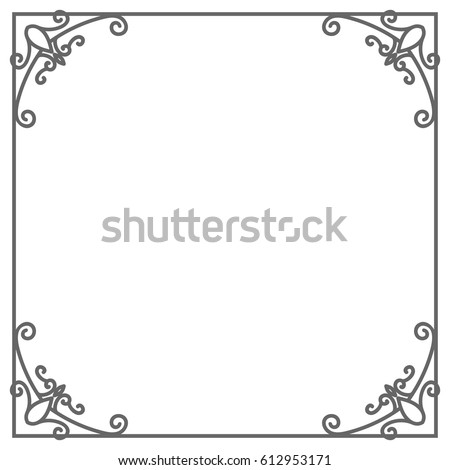 Vintage Square Shape Frame Isolated On Stock Vector 612953171 ...