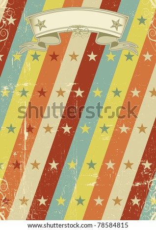 vintage stars pattern poster. A vintage design for a retro poster - stock vector