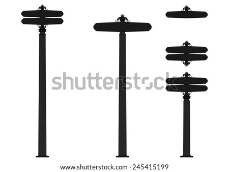 Vintage street sign. Vector - stock vector