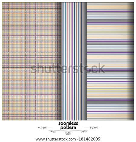 vintage striped background - purple, blue and violet colors - stock vector