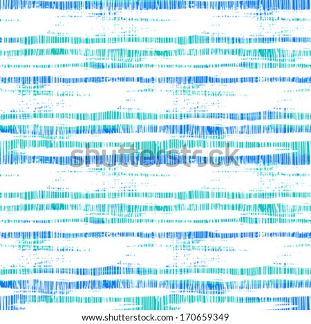 Vintage striped pattern with crossing brushed lines in nautical blue colors. Bold texture for print, paper wallpaper, home decor, spring summer fashion fabric, textile, invitation background - stock vector
