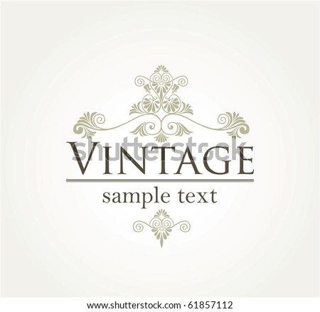 Vintage style background in editable vector format - stock vector