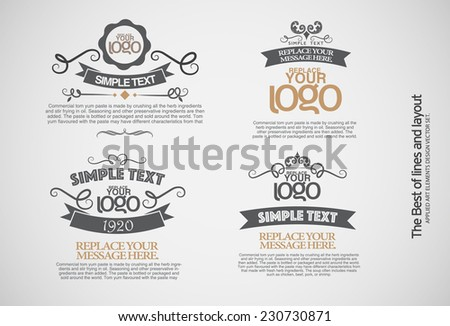 Vintage style badges in editable vector format. - stock vector