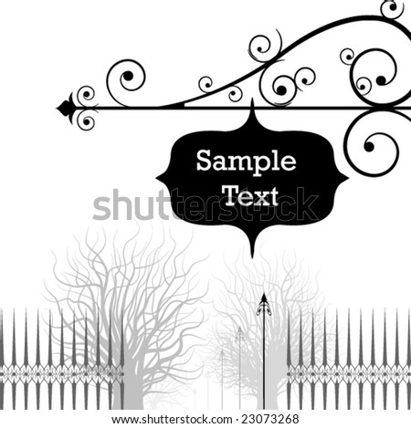 vintage style banner with place for text. vector editable design. - stock vector