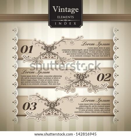 Vintage style Bar Graph Element - stock vector