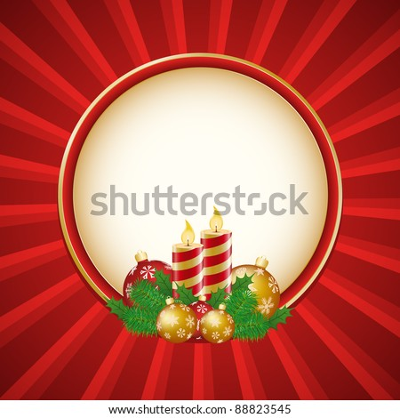 Vintage style Christmas decoration in a square format - stock vector
