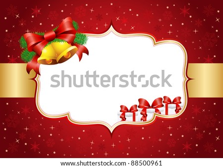Vintage style Christmas vector illustration - stock vector