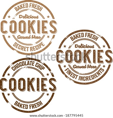 Vintage Style Cookies Bakery Stamp - stock vector