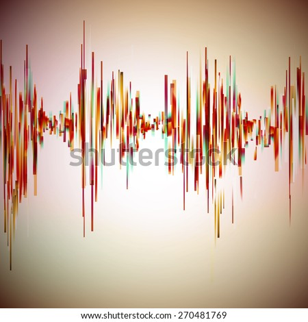 Vintage style equalizer illustration. Vector background for music themes. - stock vector