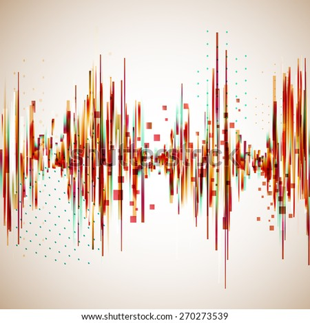 Vintage style equalizer. Vector background for music themes. - stock vector