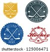Vintage Style Hockey Stamps and Seals - stock vector