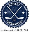 Vintage Style Hockey Tournament Sign - stock vector