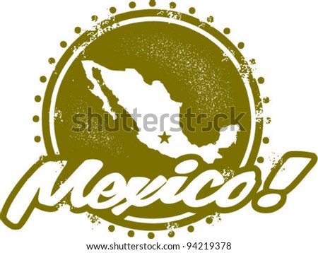 Vintage Style Mexico Graphic - stock vector