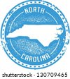 Vintage Style North Carolina USA State Stamp - stock photo