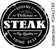 Vintage Style Steak Stamp - stock vector