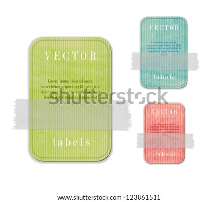 vector old paper banner cardboard tag stock vector 117760930
