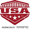 Vintage Style USA Shield - stock vector