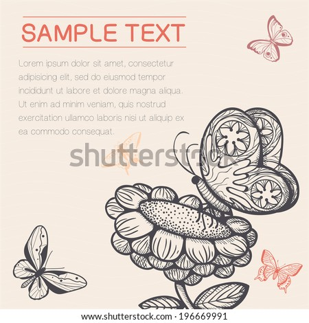 Vintage styled background. Card concept. Hand drawn design elements. Eps 10 vector illustration - stock vector