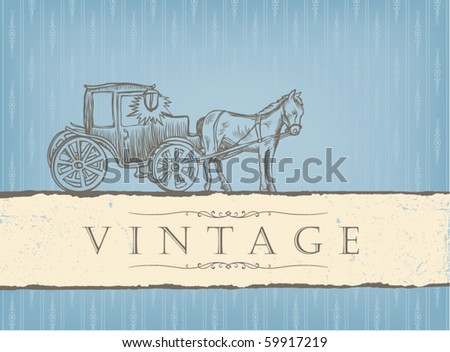 Vintage styled card. - stock vector