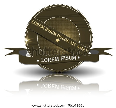 Vintage Styled Premium Quality. Label collection black. - stock vector