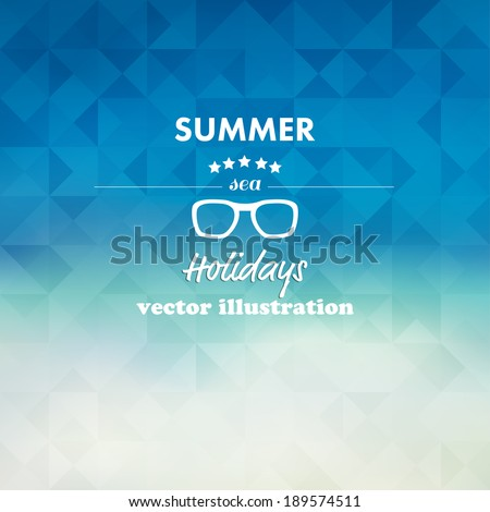 Vintage summer, sea abstract background. - stock vector